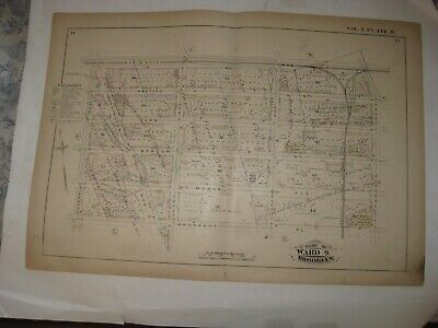 Antique 1880 Prospect Heights Brooklyn New York City Handcolored Map Rare Fine N