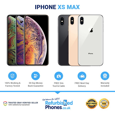 Apple iPhone XS Max 64/256/512GB SIM Free Phone - All Colours / Networks A-2101
