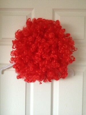 Halloween Wig Red Scary Clown Curly Unisex