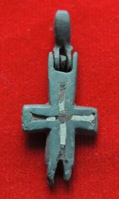 Ancient bronze cross of the Viking Encolpion 10-12 century