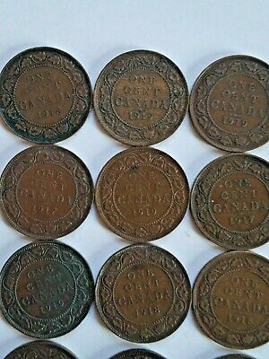 16 Canada Large Cent World Coins 1917 1918 & 1919