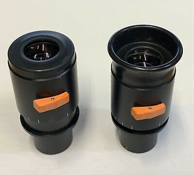 A Pair Of  ZEISS 10X Adjustable OPMI Surgical Microscope Eyepieces