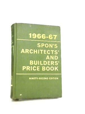1966-67, Spon's Architects' And Builders' Price Book (Anon - 1966) (ID:09410)