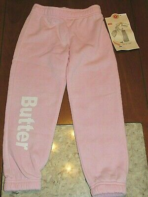 NWT ~ BUTTER Super Soft Burnout Fleece Pants Rose Shadow Little Girls Size 4