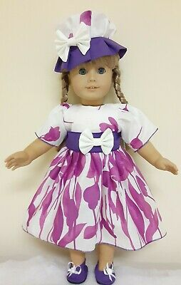 Doll Clothes And Accessories.fits American Girl Doll'little Miss Lilac.5 Pc.