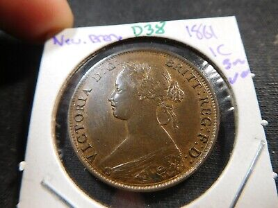 D38 Canada New Brunswick 1861 Large Cent UNC Brown