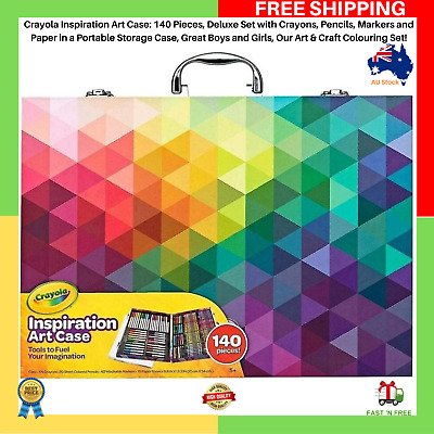 Crayola Inspiration Art Case: 140 Pieces, Deluxe Set In A Portable Storage Case