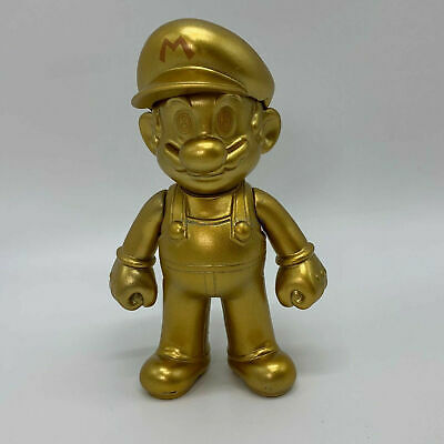 Super Mario Odyssey Golden Mario Plastic Figure PVC Doll Toy 5""