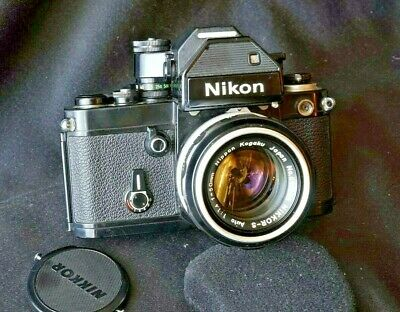 Nikon F2 Prism finder DP-2 with inused nikkor S-auto 50mm f1,4 all working fine