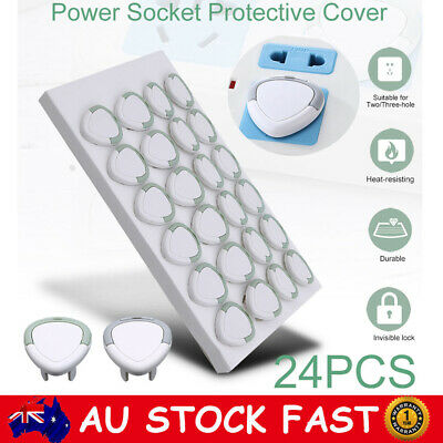 24PCS Electric Power Socket Outlet Point Plug Protective Cover Baby Kids Safety
