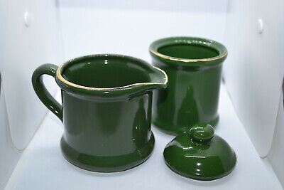 Milk Jug and Sugar Bowl (The Emerald Forest Collection) 1993 Premier Houseware