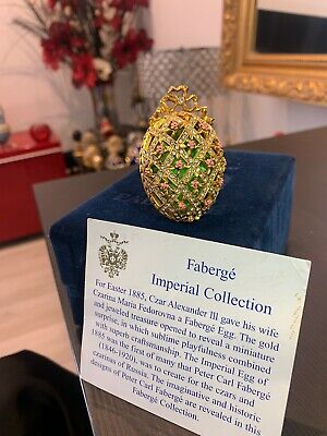 Faberge Egg - Imperial HalfanEgg Ornament (RARE &  Authentic)