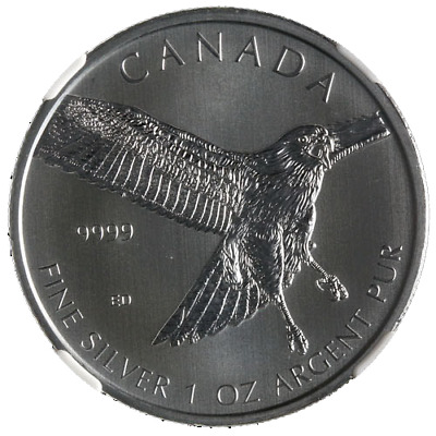 2015 Canada Silver $5 Red-Tailed Hawk Birds of Prey 1oz 9999 Fine NGC MS69 STOCK