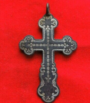 Ancient Bronze Big Cross Russian Empire