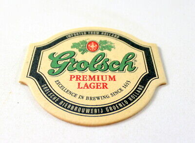 Grolsch Premium Lager Beer Bar Coasters - Imported from Holland - 100 ea