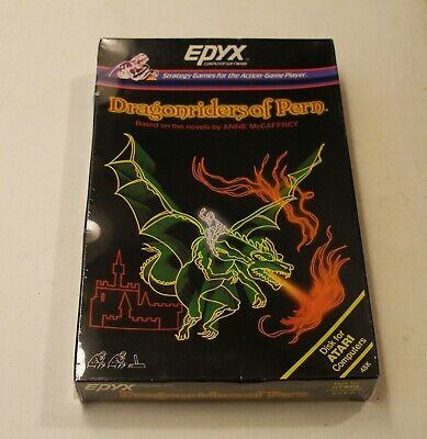 Dragonriders of Pern by Epyx for Atari 400/800 - NEW