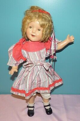 "20"" vintage 1930's Ideal N & T Composition Shirley Temple Doll"