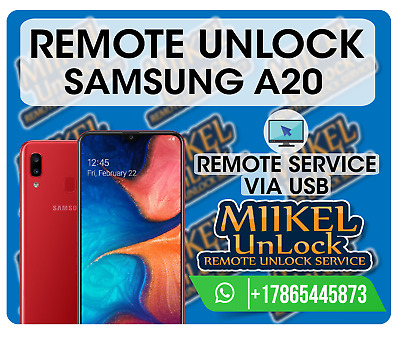 Remote Unlock Samsung A20 / A205F A205FN A205G A205Y A205YN / All Networks