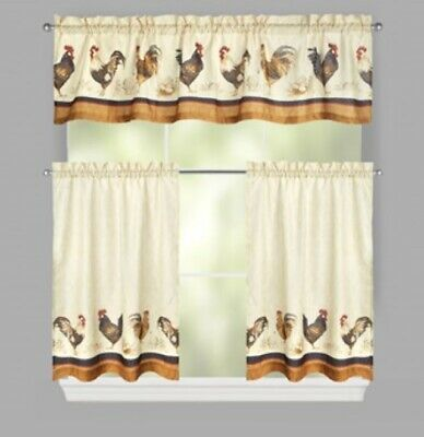 Curtains Blinds Chanteclaire Valance Black Country Primitive Rooster Rahgu 15 5 X 72 Home Furniture Diy