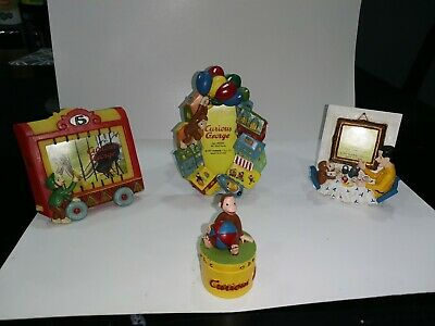 1997 Curious George 3D Photo Frames .(3pc set)... bonus trinket box