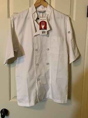NEW Chefs Works White Chef's Shirt! Small Uniform Costume Cooking Student