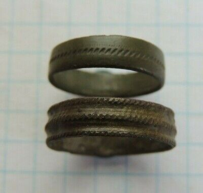 Ancient bronze rings with patterns