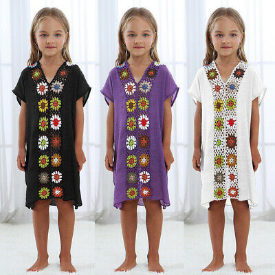 Baby Girls Vacation Floral Maxi Dress Kids Casual Raglan Sleeve Party Dresses UK