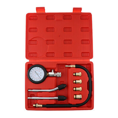 Automotive Petrol Engine Compression Tester Test Kit Gauge Car Motorcycle Tools