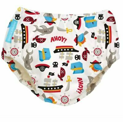 Charlie Banana Pirate Reusable Easy Snaps Swim Diaper M 13-21 lbs