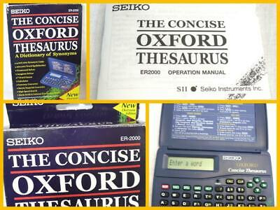 Seiko ER-2000 The Concise Oxford Thesaurus Electronic Dictionary
