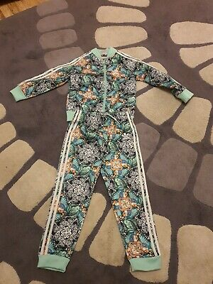 Adidas 3-4 Year Old Girls Jungle Print Tracksuit