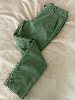 J Crew Womens Frankie Stretch Cropped Ankle Khaki Chino Pants Size 4 Olive Green