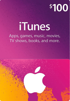 Apple 100$ App Store and iTunes Gift Card FAST FREE worldwide shipping