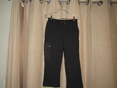 RALPH LAUREN ACTIVE womens XS black casual sweat athletic pants cropped