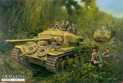 Royal Australian Armoured Corps Military Art Print  Centurion tank Vietnam war