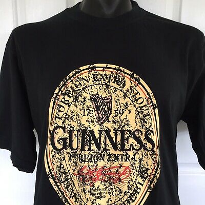 Guiness Foreign Extra Stout T-Shirt Vintage Genuine Merchandise Size L Beer