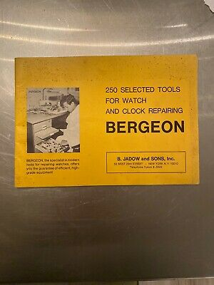 Bergeon Catalog: 250 Tools For Watch and Clock Repairing, 1969 Watchmakers