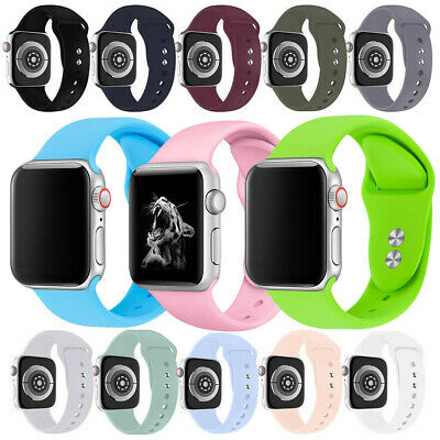 Silicone Strap Wristband for Apple IWatch Series 5 4 3 2 144mm Bracelet Loop