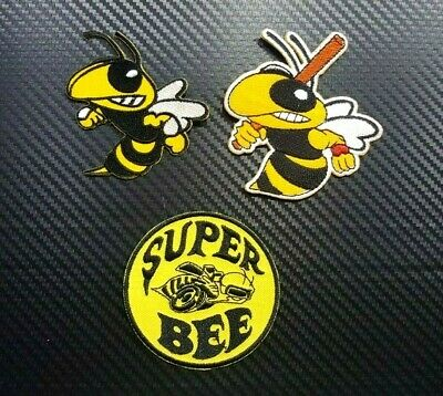 Angry Super Bee Hornet Patch Embroidered Iron on Car Dodge Biker Mopar Animal MC