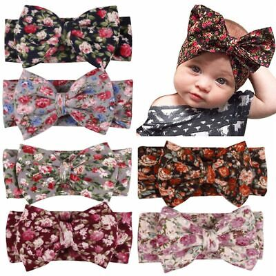 Infant Girls  Newborn Bow Kids Oversize  Knot Turban Hair Band Headband