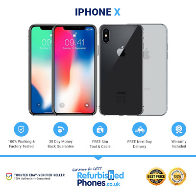 Apple iPhone X 64GB / 256GB All Colours / Networks SIM Free Phone A1901