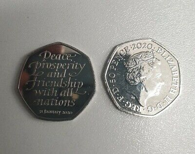 Brand New brexit 50p coin 2020