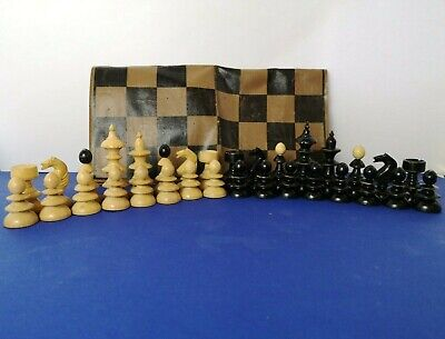 Antike Schachfiguren Schachspiel Large Antique Austrian Coffee House Chess Set