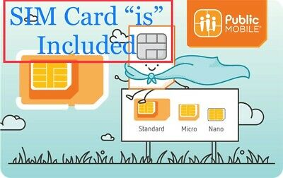 Public Mobile SIM Card - Includes $10 Credit - Activation Required - See Ad