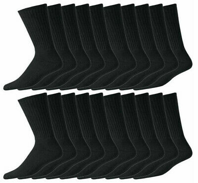 10 Pair Pack Mens Casual SPORTS  Black Socks Winter Cotton Rich Size 6-11