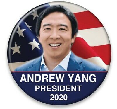 ANDREW YANG Official Button Pin  Democrat President I #Pledge for Humanity