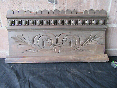 ~ Antique Carved Walnut Pediment ~ 28 Inches Wide ~ Architectural Salvage ~