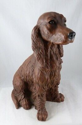 "Vintage Universal Statuary Large 13½"" Red Irish Setter Dog Made in USA ©1990"
