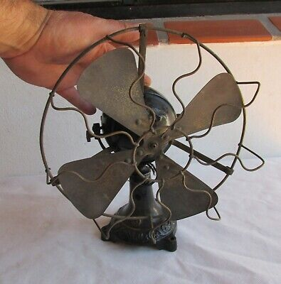 Very Early Miniature Non Ventilated Ball Motor Marelli Electric Fan, For Restore