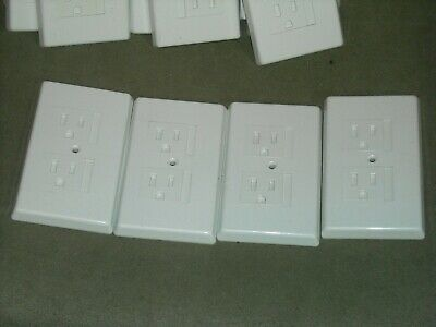 8 Self-Closing Outlet Cover Electrical Wall Plate Child Safety Guards Shock